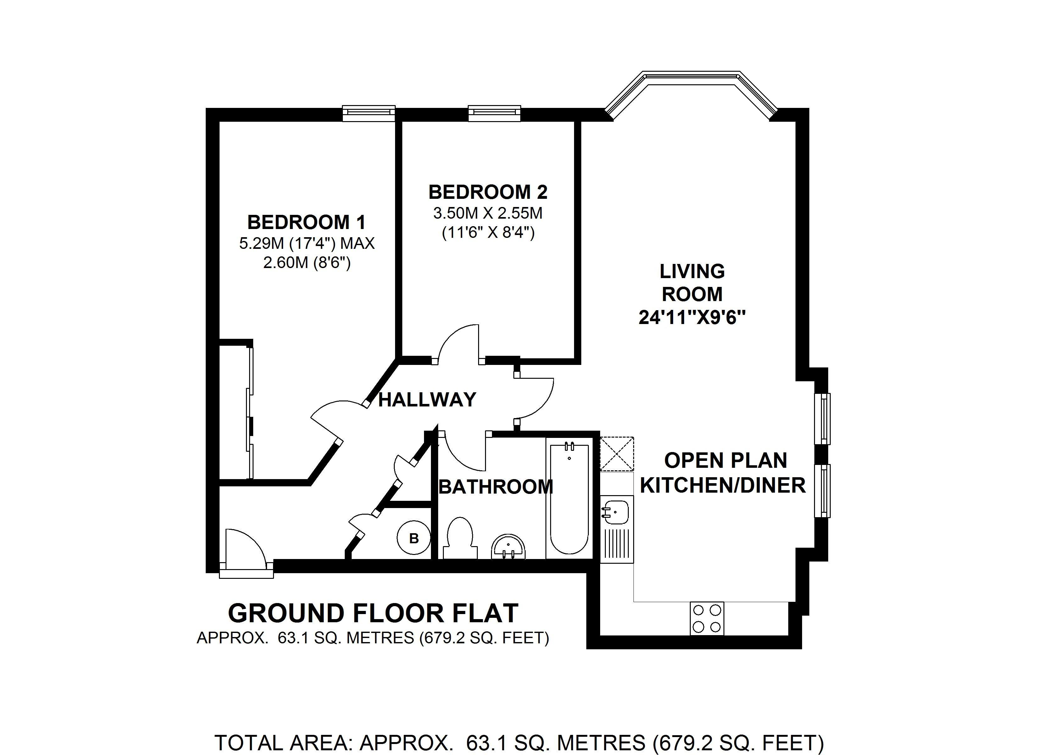 Floorplans For Jasmine Court, Hanworth