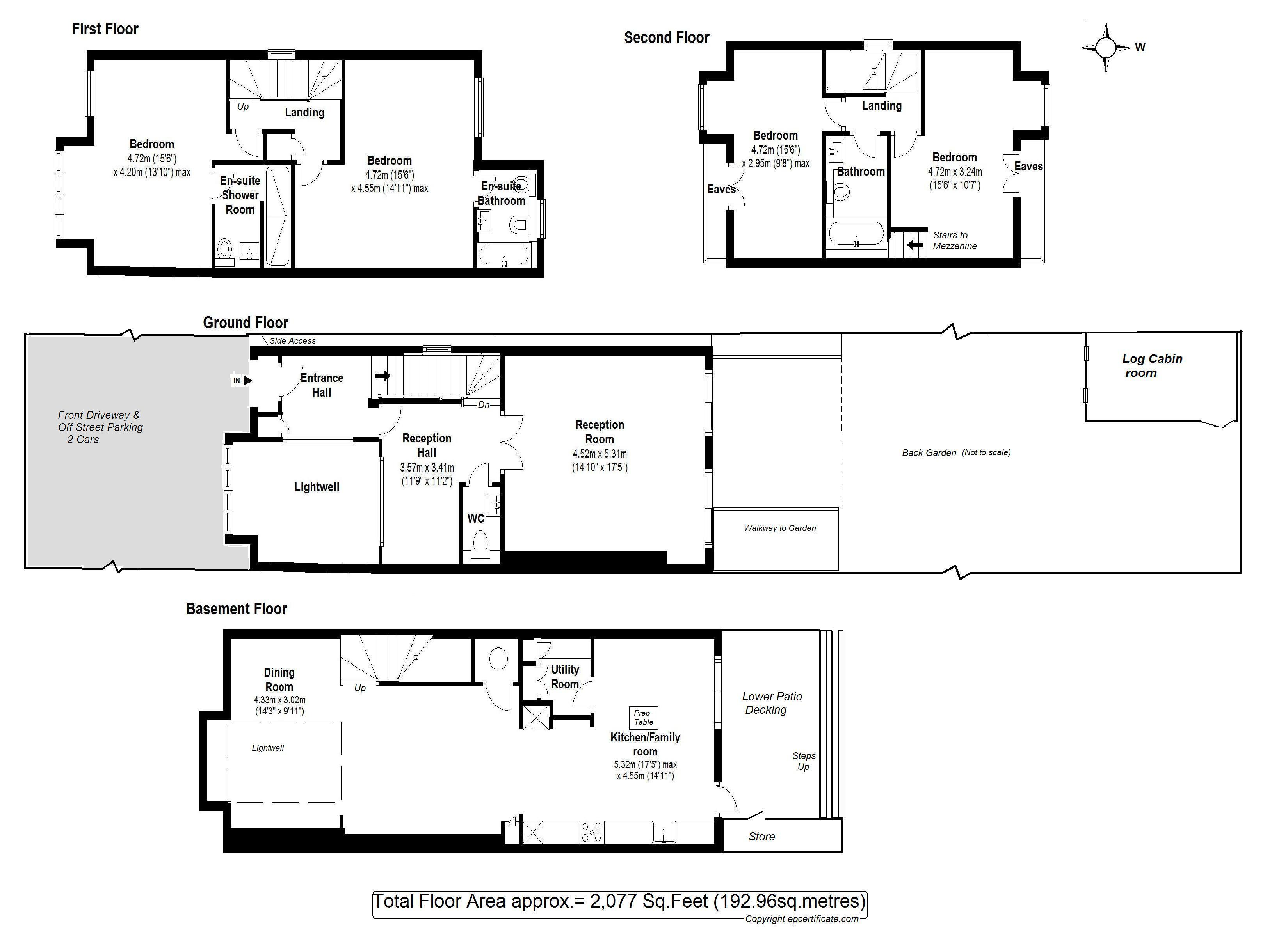 Floorplans For Elmfield Avenue, Teddington