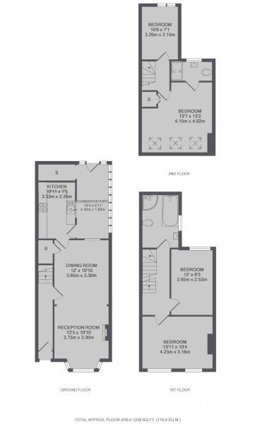 Floorplans For May Road, Twickenham