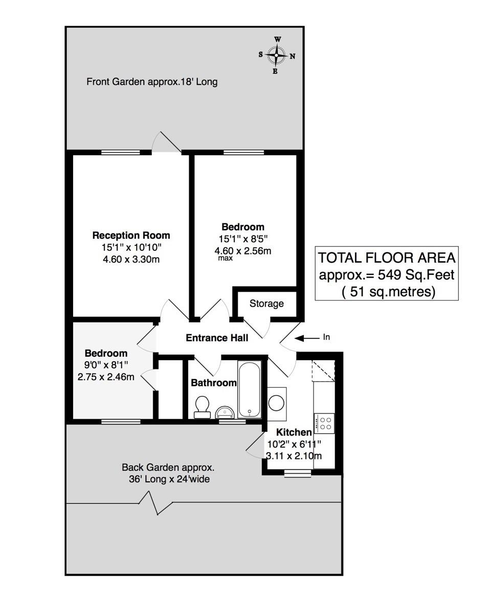 Floorplans For Blyth Close, Twickenham